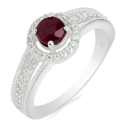 RUBY RING WITH ZIRCON #VR017689