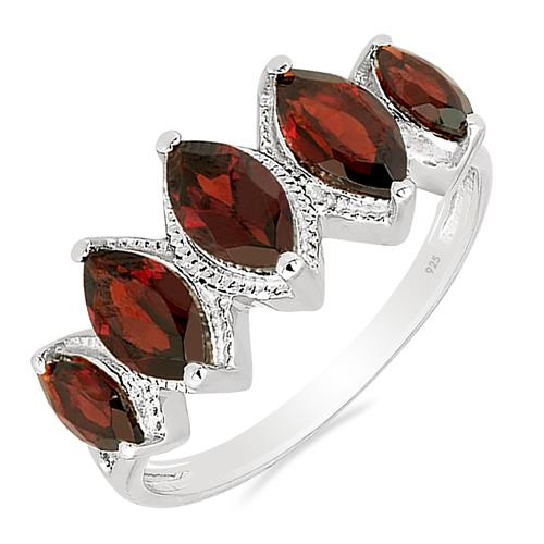 2.64 CT GARNET SILVER RING WITH ZIRCON #VR012952