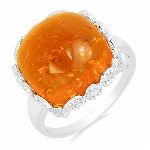SYNTHETIC AMBER RING