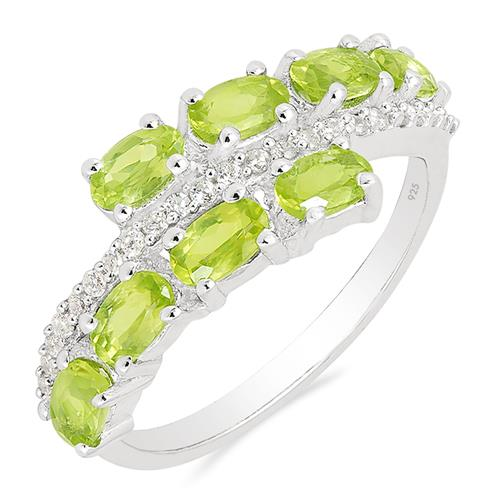 PERIDOT RING WITH ZIRCON