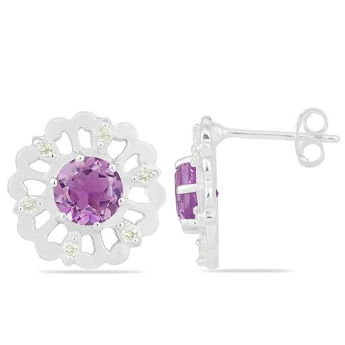 AMETHYST EARRING WITH ZIRCON #VE019892