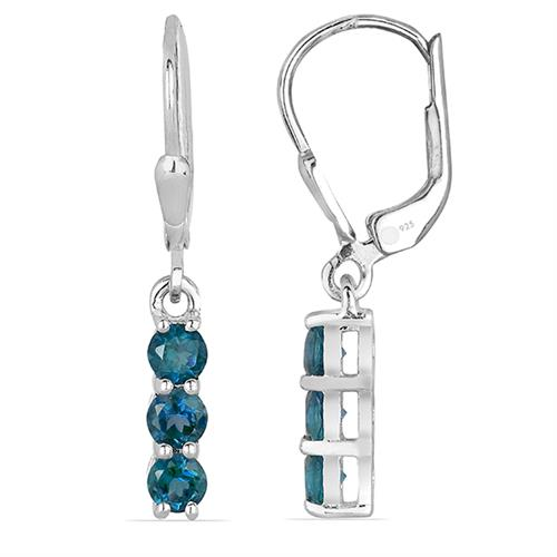 LONDON BLUE TOPAZ EARRING #VE014969
