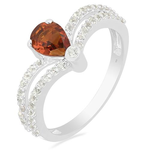 MADEIRA CITRINE RING WITH ZIRCON #VR015723