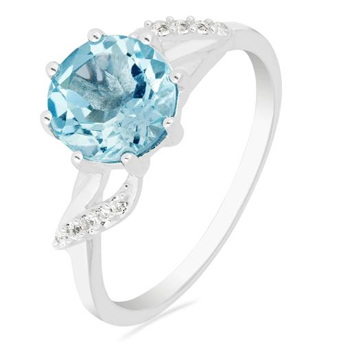 SKY BLUE TOPAZ RING WITH ZIRCON #VR015554