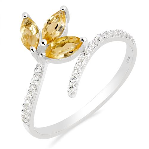 CITRINE RING WITH WHITE ZIRCON #VR012720