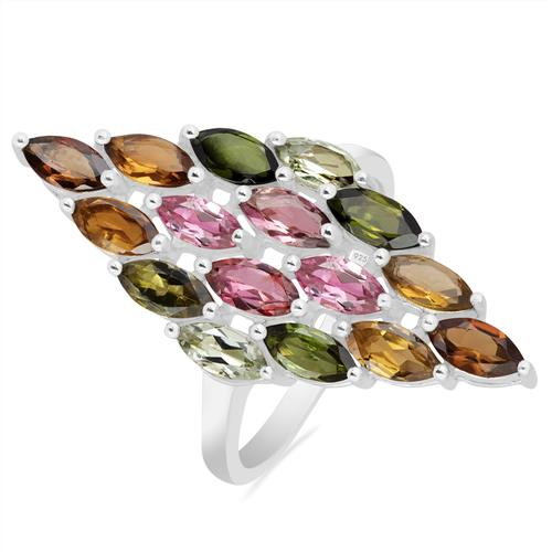 MULTI TOURMALINE SILVER RING #VR020112
