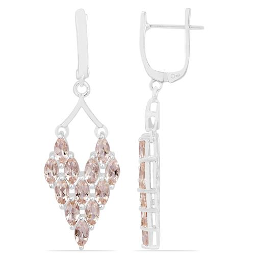 MORGANITE SILVER EARRING #VE020112