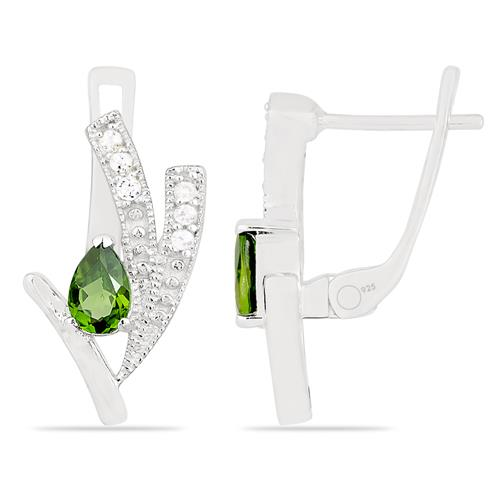 CHROME DIOPSITE EARRING WITH ZIRCON #VE020160