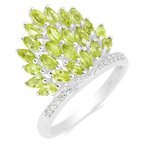 PERIDOT RING WITH ZIRCON #VR019956