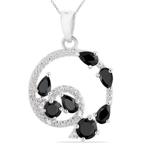 BLACK ONYX PENDANT WITH WITH ZIRCON