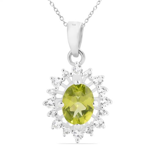 PERIDOT PENDANT WITH WHITE ZIRCON #VP019508