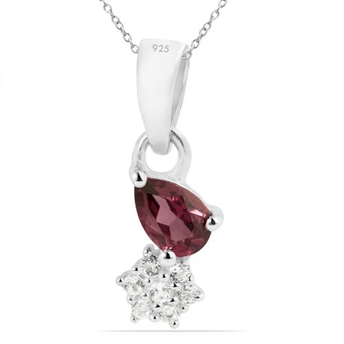 VP021128 RHODOLITE PENDANT WITH ZIRCON #VP021128