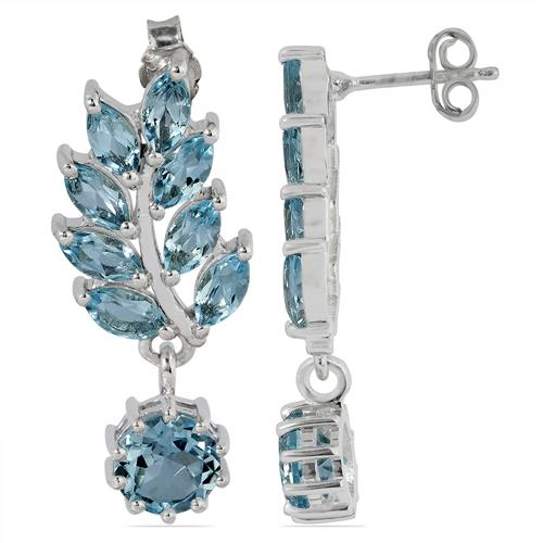 SKY BLUE TOPAZ EARRING WITH WHITE ZIRCON #VE023204