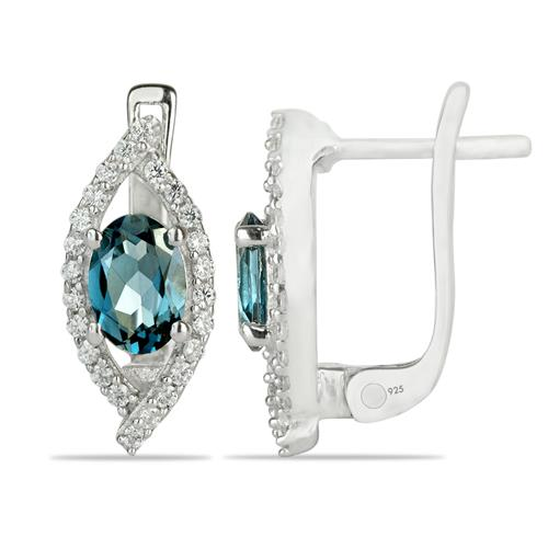 LONDON TOPAZ EARRING WITH WHITE ZIRCON #VE023176