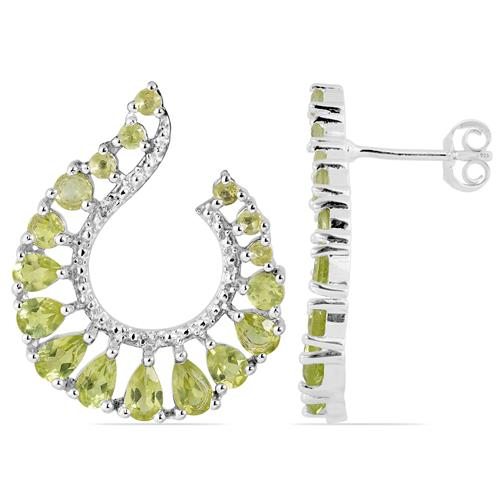 PERIDOT EARRING WITH WHITE ZIRCON #VE023373