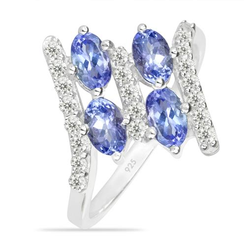 TANZANITE SILVER RING WITH WHITE ZIRCON #VR011554