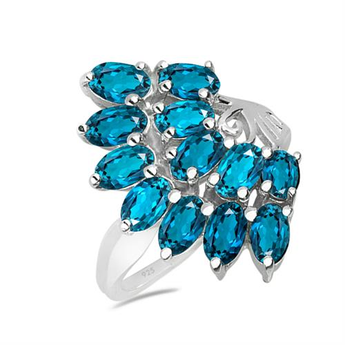 LONDON TOPAZ SILVER RING #VR019974