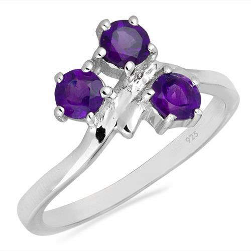 AFRICAN AMETHYST SILVER RING #VR026065