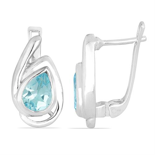 SKY BLUE TOPAZ SILVER EARRING #VE026142