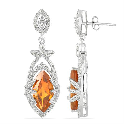NANO ZULTANITE SILVER EARRING WITH WHITE ZIRCON #VE025949