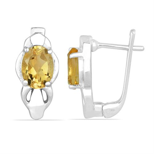 CITRINE SILVER EARRING #VE026490