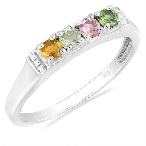 MULTI TOURMALINE SILVER RING #VR014756