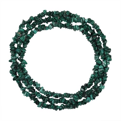 NATURAL MALCHITE 32 - 34 INCHES NUGGET NECKLACE #VBJ010003