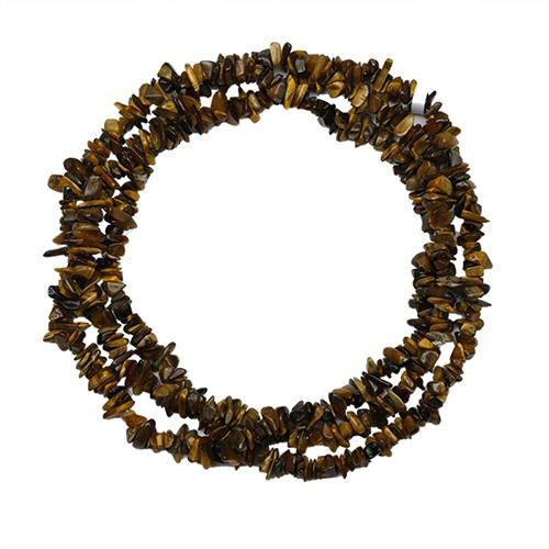 NATURAL TIGER EYE 32 - 34 INCHES NUGGET NECKLACE #VBJ010004