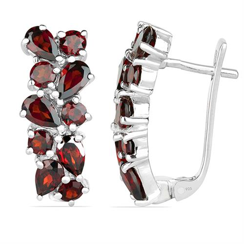 GARNET SILVER EARRING #VE08305