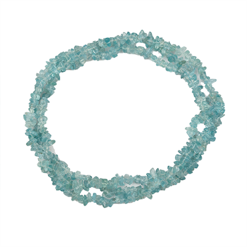 NATURAL APATITE 32 - 34 INCHES NUGGET NECKLACE #VBJ010007