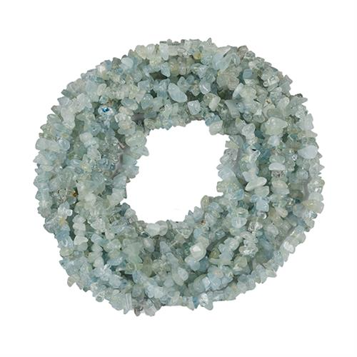 NATURAL AQUAMARINE 100 INCHES NUGGET NECKLACE #VBJ010020