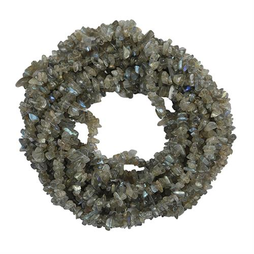 NATURAL LABRADORITE 100 INCHES NUGGET NECKLACE #VBJ010021
