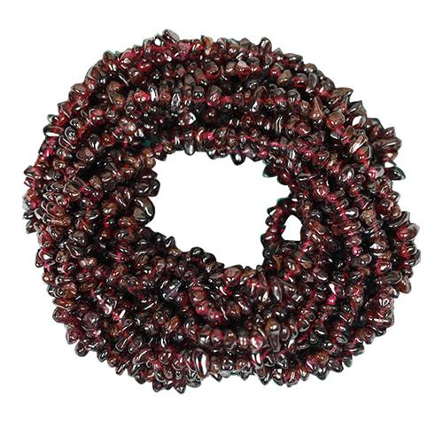 NATURAL GARNET 100 INCHES NUGGET NECKLACE #VBJ010025