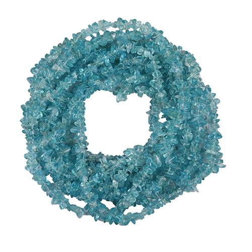 NATURAL APATITE 100 INCHES NUGGET NECKLACE #VBJ010026