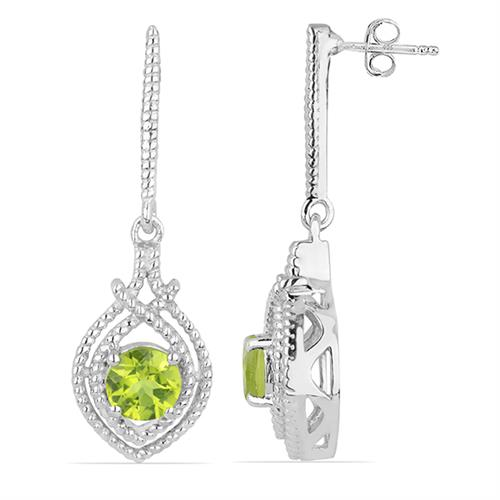 PERIDOT SILVER EARRING #VE016092