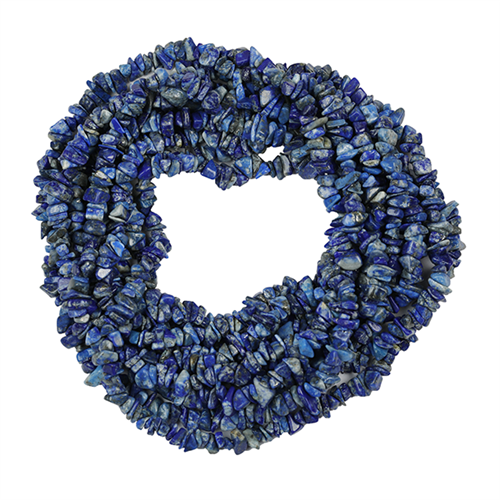 NATURAL LAPIS 100 INCHES NUGGETS NECKLACE #VBJ010028