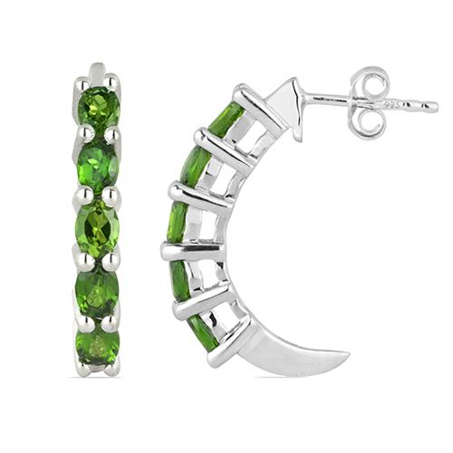CHROME DIOPSITE SILVER EARRING #VE014813