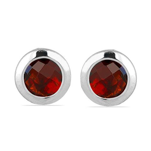GARNET SILVER EARRING #VE015015