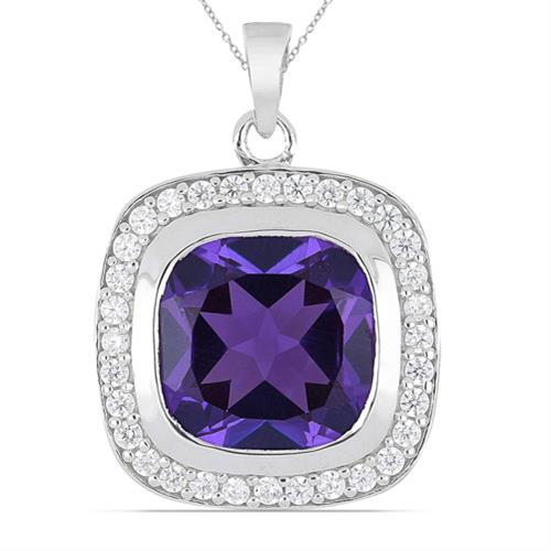 7.10 CT SYNTHETIC ALEXANDERITE  SILVER PENDANT #VP013741