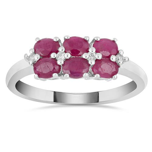 1.08 CT  KARNATAKA RUBY SILVER RING #VR015864