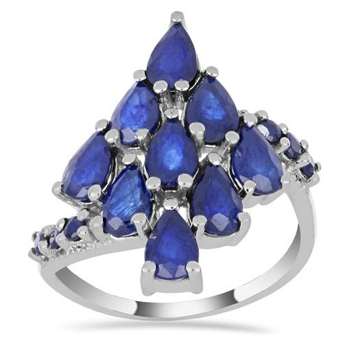 4.80 CT AUSTRALIAN BLUE SAPPHIRE SILVER RING #VR014280