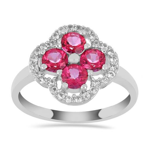 1.40 CT PINK TOPAZ SILVER RING #VR013833