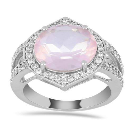 SOUTH DAKOTA ROSE QUARTZ SILVER RING #VR016792