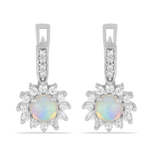 1.00 CT ETHIOPIAN OPAL SILVER EARRINGS #VE014438