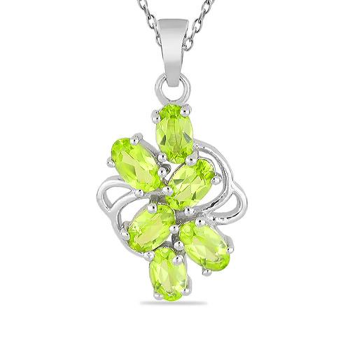 1.44 CT ARIZONA PERIDOT STERLING SILVER PENDANTS #VP016627