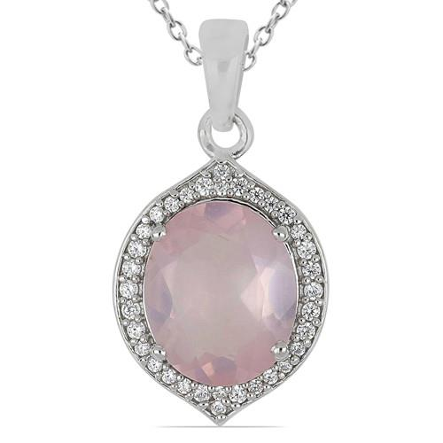 5.24 CT SOUTH DAKOTA ROSE QUARTZ SILVER PENDANTS #VP016792