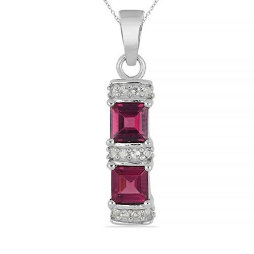 2.00 CT UMBA RIVER RHODOLITE SILVER PENDANTS #VP013536