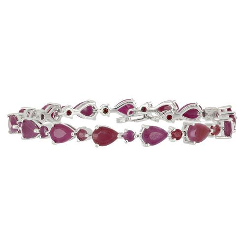 13.90 CT RUBY SILVER BRACELETS #VB014081