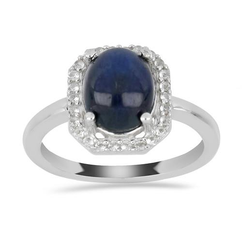 4.70 CT STAR SAPPHIRE SILVER RING #VR029640