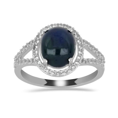 4.70 CT STAR SAPPHIRE SILVER RINGS #VR029622